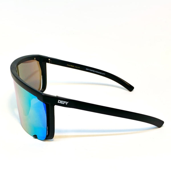 PARADISE CITY -MATTE BLACK FRAME / FIRE BLUE MIRROR LENSES SUNGLASS