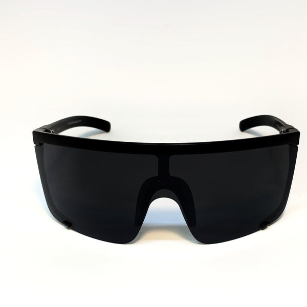 PARADISE CITY -MATTE BLACK FRAME / GREY LENSES SUNGLASS