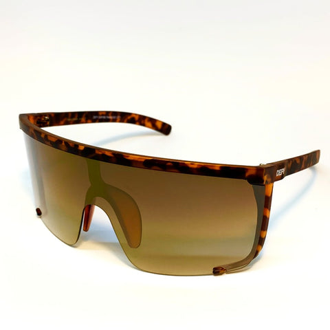 PARADISE CITY -MATTE TORTOISE CAMO FRAME /  LIGHT 24K GOLD MIRROR GRADIENT LENSES SUNGLASS
