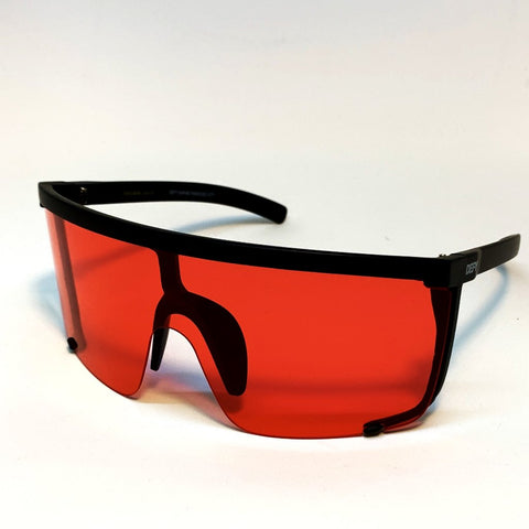 PARADISE CITY -MATTE BLACK FRAME / RED LENSES SUNGLASS