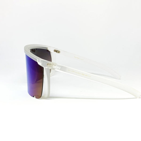 PARADISE CITY -MATTE CLEAR FRAME /  BLUE MIRROR GRADIENT LENSES SUNGLASS