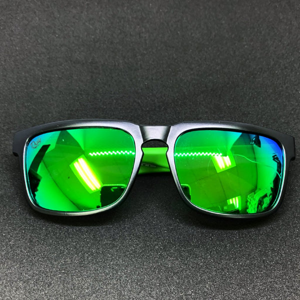 BROOKLYN - MATTE BLACK FRAME/GREEN MIRROR POLARIZED LENSES SUNGLASS TOP SELLER
