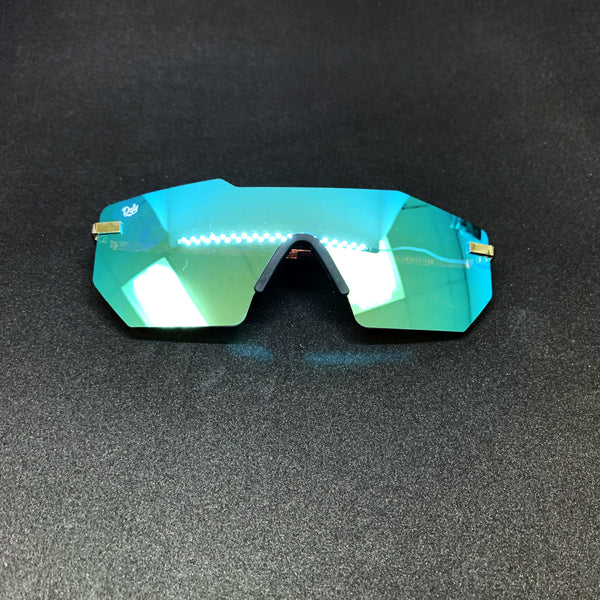 ROCKFORD -PLATINUM FRAME / BLUE MIRROR LENSES SUNGLASS