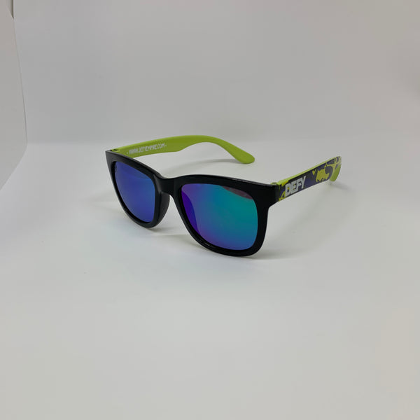 |LIMITED ED| HAWAII GREEN CAMO GLOSS BLACK GREEN POLARIZED MIRROR LENSES SUNGLASS TOP SELLER