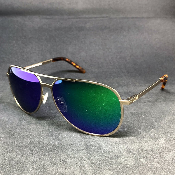 CHICAGO - GOLD / GREEN MIRROR POLARIZED HIGH DEFINITION LENSES SPECIAL EDITION