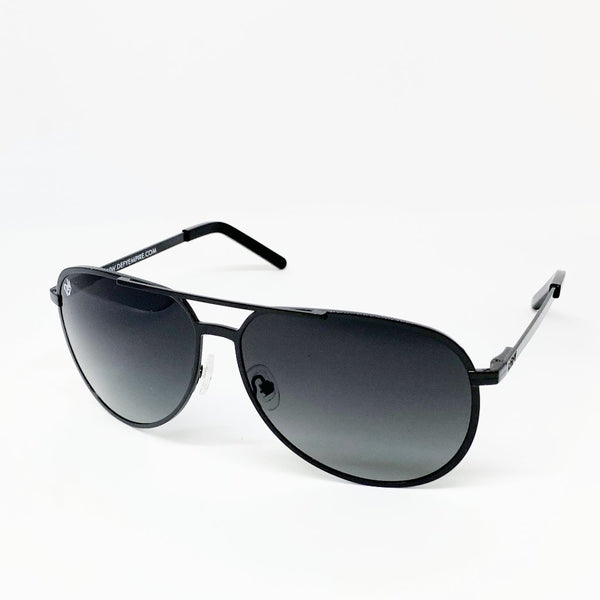 CHICAGO - GLOSS BLACK / GREY GRADIENT POLARIZED