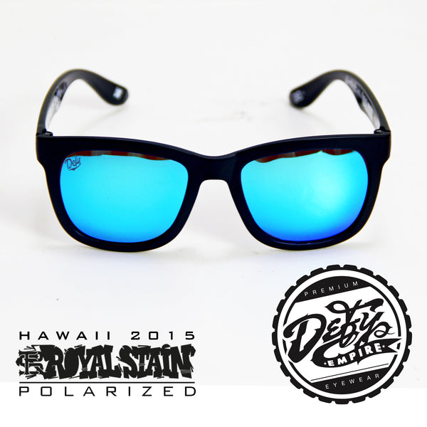 RS2 DEFY EMPIRE HAWAII ROYALSTAIN MATTE BLACK / ICE BLUE POLARIZED SUNGLASS