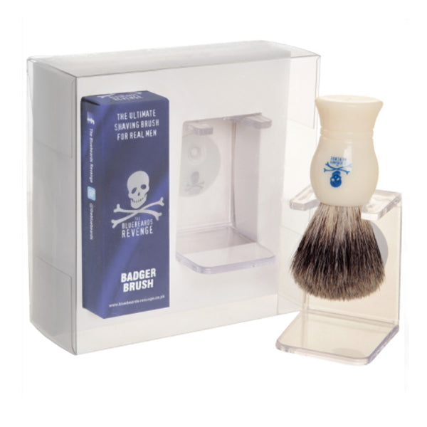 Bluebeards Revenge Pure Badger Brush and Drip Stand