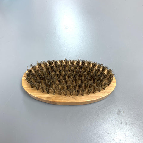 HIGH QUALITY ANTI-STATIC BEARD MOUSTACHE BRUSH BOAR BRISTLE MEDIUM SIZE