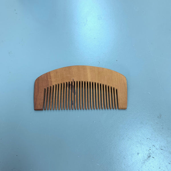 HIGH QUALITY ANTI-STATIC BEARD MOUSTACHE COMB PEACH WOOD WOODEN