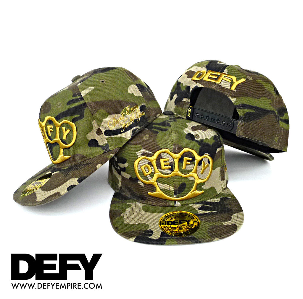 WOODLAND CAMO KNUCKLE SNAPBACK