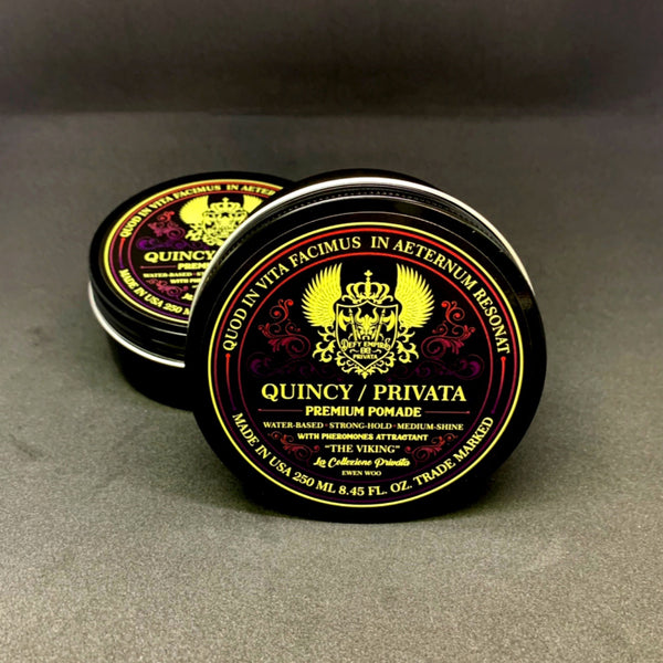 "QUINCY / PRIVATA - ""THE VIKING"" LIMITED EDITION POMADE WITH PHEROMONES ATTRACTANT ONLINE EXCLUSIVE 250ML"