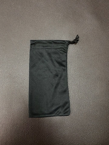 BLACK MICROFIBRE SUNGLASS POUCH BAG ACTS AS CLEANING CLOTH