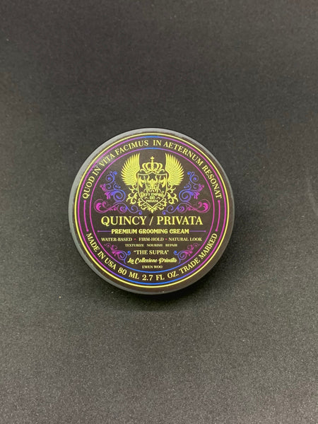 "QUINCY / PRIVATA ""THE SUPRA"" PREMIUM GROOMING CREAM 80ML LIMITED EDITION ARGAN OIL PINK SALT VITAMIN E PRO B5 B7 SHEA BUTTER"
