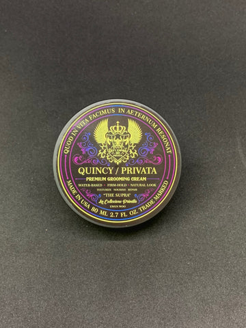 "QUINCY / PRIVATA ""THE SUPRA"" PREMIUM GROOMING CREAM 80ML LIMITED EDITION ARGAN OIL PINK SALT VITAMIN E PRO B5 B7 SHEA BUTTER CLAY COMPOSITE"