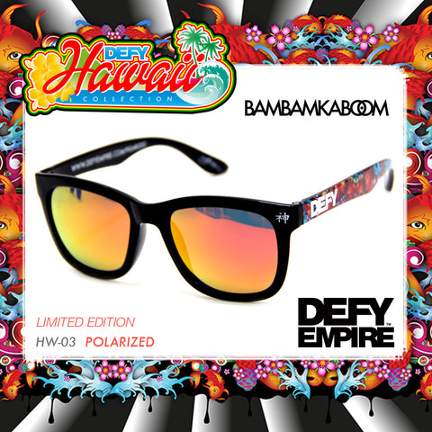 LIMITED EDITION| HAWAII BAMBAMKABOOM GLOSS BLACK / RED MIRROR POLARIZED