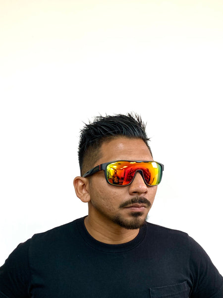 DEFY / PRIVATA MIRAGE LIMITED EDITION - MATTE BLACK FRAME/FIRE RED MIRROR POLARIZED