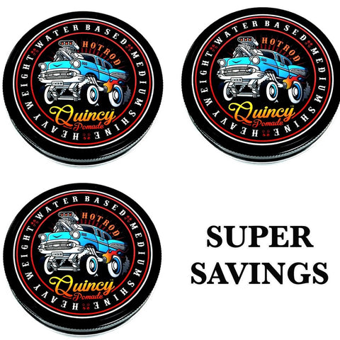 BUNDLE DEAL - 3 QUINCY HOT ROD POMADE 150ML