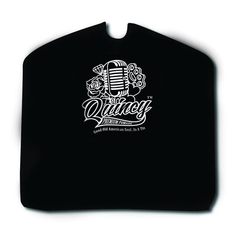 QUINCY PREMIUM POMADE BLACK BARBER CAPE
