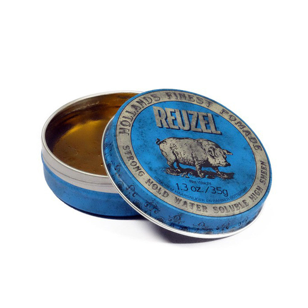 Reuzel Blue Strong High Sheen Pomade 4Oz