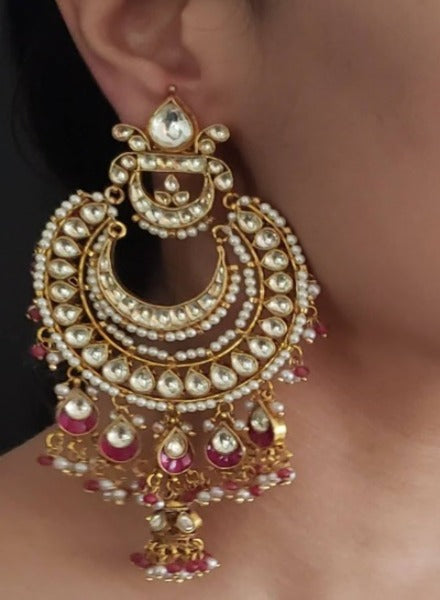 Chandbali Kundan earrings