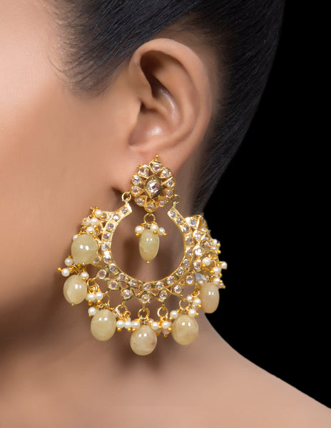 Hyderabadi gold tone Chand balis