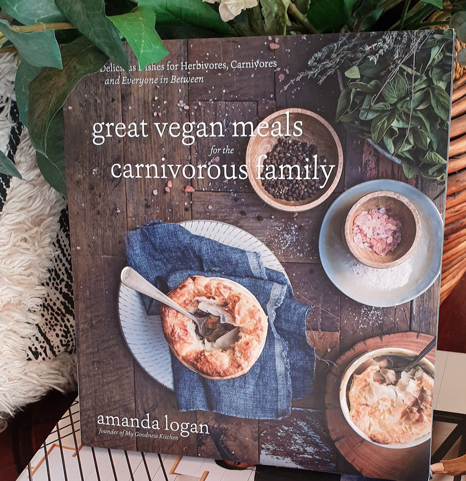 As seen in.... Great Vegan Meals for the Carnivorous Family - by Amanda Logan https://mygoodnesskitchen.com/my-new-cookbook/
