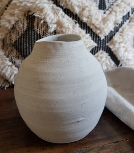 'Chalk' Organic Wave-Top Vase