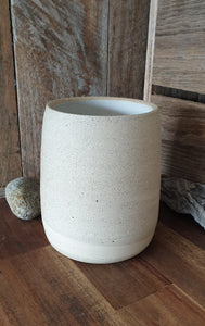 Two-toned Raw Clay Vase