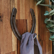 Load image into Gallery viewer, Repurposed Horse Shoe Coat Hook