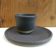 Load image into Gallery viewer, Basalt teacup and saucer set