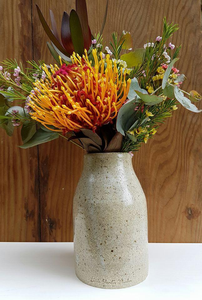 Sea Foam bottle vase