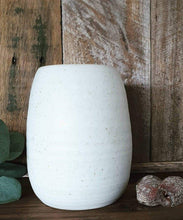 Load image into Gallery viewer, Ribbed Egg Vase - Chalk