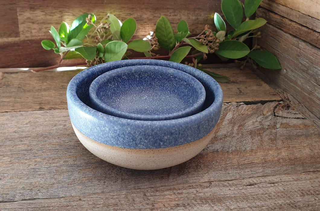 Speckled Cobalt Bowl Set