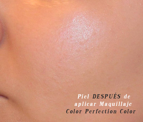 piel después de aplicar el maquillaje Color Perfection Color