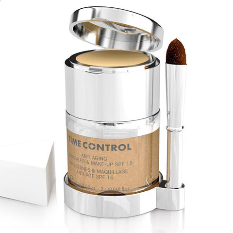 maquillaje antiedad time control - ideal para eliminar rojeces