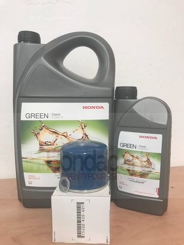 Genuine Honda Diesel Green Oil and Filter Kit (CIVIC, CR-V, HR-V)