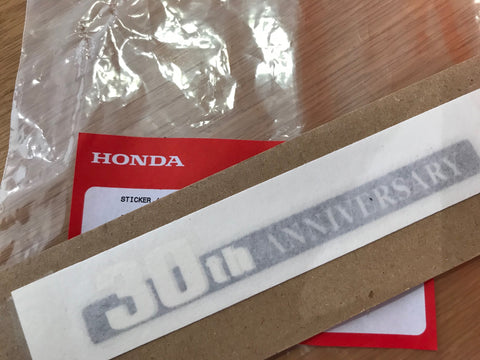 "Genuine Honda Civic Type'R ""30th Anniversary"" Sticker"