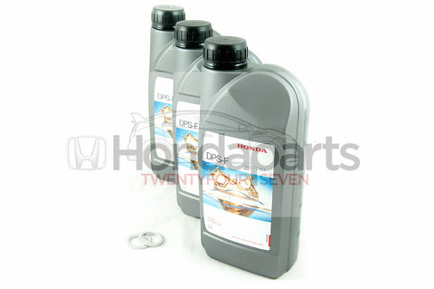 Genuine Honda DPS-F Dual Pump Fluid. Rear Differential Fluid & washers. 3 Litres
