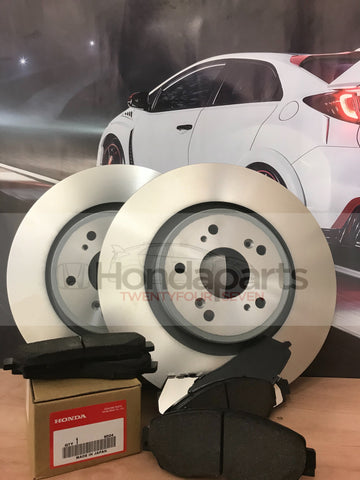 GENUINE HONDA FRONT BRAKE DISCS AND PADS