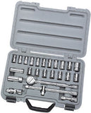 "Draper 25 Piece 1/2"" Square Drive mm/AF Combined Socket Set"