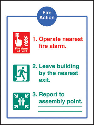 Fire action - EEC sign