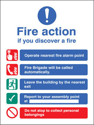 Fire action auto dial without lift sign