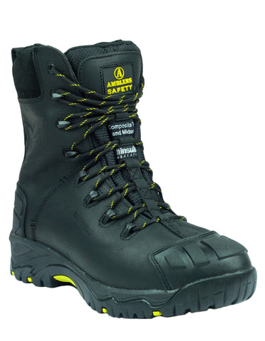 Amblers FS999 Black Nubuck Safety Boots