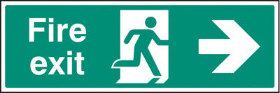 Fire exit - right sign