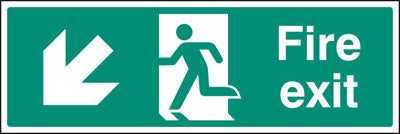 Fire exit - down and left sign