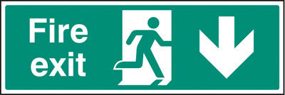 Fire exit - down sign
