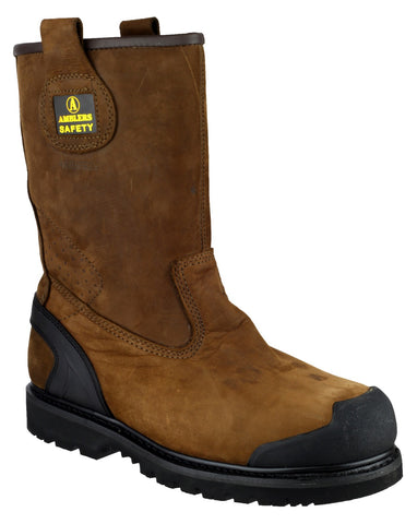 Amblers FS223C Brown Leather Rigger Boots