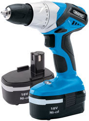 Draper 18V Cordless Rotary Drill With Two Batteries