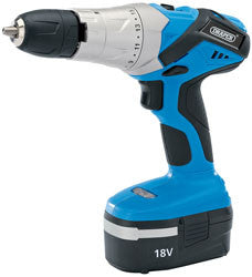 Draper 18V Cordless Hammer Drill With Two Batteries